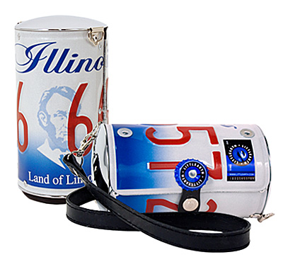 Illinois license plate purse